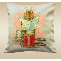 Peter Rabbit, Beatrix Potter Throw Cushions, Adapted Peter Rabbit and Friends (cover only)  The Tailor Of Gloster - Beatrix Potter Gifts