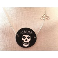 Silver Plated Handmade Misfits Logo Necklace - Misfits Gifts