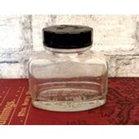 Vintage Parker Quink ink bottle 2 oz ink pot collectible vintage stationery item small storage jar arts and crafts items 1960s England (X) - Arts And Crafts Gifts