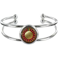 Roulette Silver Plated Bangle in Organza Gift Bag - Roulette Gifts