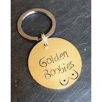 Golden boobies keepsake, golden boobies keyring, breastfeeding milestone, breastfeeding keepsake, breastfeeding, golden boobies, one year - Seek Gifts