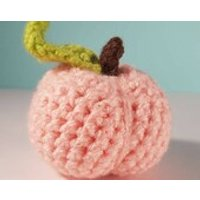 Crocheted Peach  Play Food  Educational Toys Learning Games  Preschool  Nursery  Toddler  Baby  Childrens  Teething  Learning - Educational Gifts