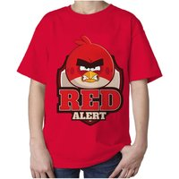 Angry Birds Text Red Alert Official Kids Tshirt (Red) - Angry Birds Gifts