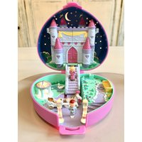 Vintage Polly Pocket Starlight Castle  1992 Light up Mint Complete FREE Polly Pocket RARE Earrings FREE - Polly Pocket Gifts