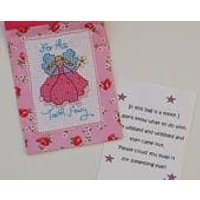 Cross Stitch Tooth Fairy bag/pouch with note for the Tooth Fairy - Fairy Gifts