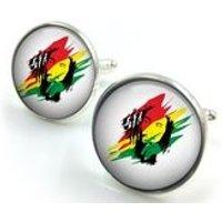 Bob Marley Cufflinks, Reggae, Jamaica, Marley, Music, Rasta gift for him,gift for men,gift for boyfriend - Bob Marley Gifts