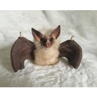Fluffy Brown Bat Monster Poseable Art Doll Handmade OOAK Sculpture Plush Creature Vampire - Vampire Gifts