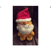 Vintage  Christmas Garfield 14 plush Toy  VGC - Garfield Gifts