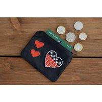 Love heart coin purse  money purse, heart gift, money pouch, american gift, card wallet, storage pouch, zipper purse, zipper pouch, love - Money Gifts