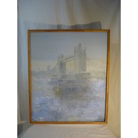 Noel Barker Artist Signed Post Impressionist Oil Painting Tower Bridge London - Artist Gifts