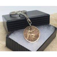 1928 90th birthday  farthing coin keyring pre decimal - 90th Birthday Gifts