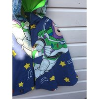 Buzz Lightyear Woody Toy Story fabric hand made Super Hero Cape fancy dress fully upcycled  recycled Christmas Birthday Gift Age 4 5 6 yrs - Buzz Lightyear Gifts