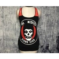 Misfits Womens Tank Top // Reconstructed TShirt // Size Small // Punk Gothic Music Alternative Horror Emo - Misfits Gifts
