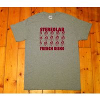 Stereolab, French Disko, avantpop, indie electronic, experimental  screen printed Tshirt - Electronic Gifts