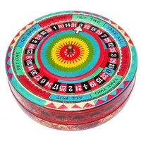 Rare Vintage 1920s Spinning Roulette Wheel Biscuit Tin Casino Gambling Gaming Las Vegas Good Luck Game Of Chance Edwardian Toffee Litho Box - Roulette Gifts