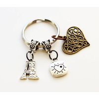 Friendship Love Key Ring, Couples Keychain, Wedding Gift, Best Friend Key Ring, Long Distance Gift, Wedding Key Chain, Wedding Keyring - Keyring Gifts