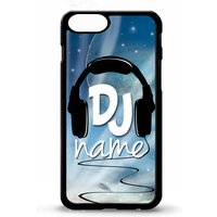 DJ mc ibiza cool gift headphones personalised name custom cover for iphone 4 4s 5 5s 5c SE 6 6s 7 8 plus X phone case - Dj Gifts