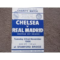 1966 Chelsea FC v Real Madrid FC Original Official Football Soccer Charity Match Programme Ideal Christmas Birthday Present - Chelsea Gifts