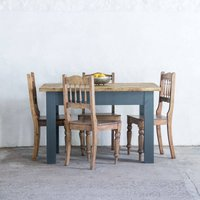 4 ft Farmhouse Dining Table. Farrow  Ball Painted Legs. Custom made with Reclaimed wood. Many sizes/colours available. - Custom Gifts