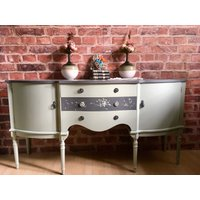 Unique original Strongbow Furniture Hand Painted in Dark Grey and Mint Vintage Sideboard Cabinet Buffet - Strongbow Gifts