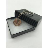 70th birthday 1948 Boxed Irish threepence keyring  hare  REUL - 70th Birthday Gifts