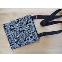 Black Crossbody Bag, Boho Shoulder Bag, Sling Bag, Zipped Handbag - Shoulder Bag Gifts