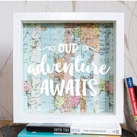 Our Adventure Awaits // Travel Gift // Adventure Fund Frame // Money Box // Savings Jar // Money Box Frame // Piggy Bank // Holiday Fund // - Money Gifts