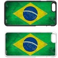 Flags of the World Plastic Phone Case iPhone 5 SE 6 7 8 Plus Galaxy J5 S5 S6 S7 S8 Edge Note Xperia iPad Air Mini 3 4 No.17 Brazil Brazilian - Ipad Gifts