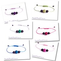 Aromatherapy Diffuser Bracelet. Essential Oils Diffuser. Adjustable Bracelet. Strong Cord. Design Your Own Colour. Genuine Lava Stones. - Aromatherapy Gifts