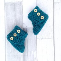 Unisex booties, Ugg boots, Baby shoes, Infant shoes,Baby shower,New born, Teal baby accessories,Crocheted booties,Crochet boots,Photo prop - Ugg Gifts