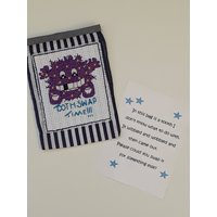 Cross stitch Lost Tooth bag/pouch with note to the Tooth Fairy - Fairy Gifts