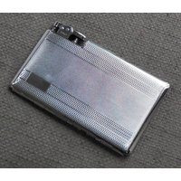 Stylish POLO Vintage Cigarette CASE With LIGHTER...Chromium Metal Mid Century Smoking Accessories...Case With Integral Lighter...Great Gift! - Smoking Gifts