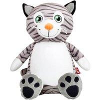 Personalised Cat Teddy Bear, Embroidered Cubby Teddies, Custom Teddy bears, Boys Birthday Gift, New baby boys gift, Pussy cat, Kitten - Teddy Bears Gifts