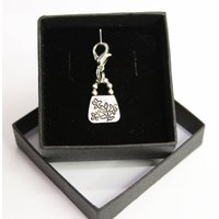 Silver plated Lobster Claw Clasp with Tibetan Silver Charm   Handbag / Purse charm - Handbags Gifts