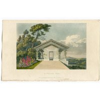 Garden Architecture Print, A Polish Hut by John Papworth, Architect, and Artist, Published by R. Ackermann. 1819 Hand Coloured Aquatint. - Artist Gifts