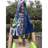 Toy Story Buzz Lightyear Space Rocket Boys Girls Kids unisex Super Hero Cape Gender Neutral upcycled vintage fabric Age 5 6 7 8 9 10 11 yrs - Buzz Lightyear Gifts
