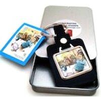 Beatrix Potter Peter Rabbit Stamp Keyring 1979 - Beatrix Potter Gifts