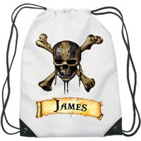 Dead Men Tell No Lies Pirates of The Caribbean Drawstring Swimming, School, PE Bag For Girls and Boys Personalised Disney Bag. - Swimming Gifts