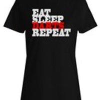 Eat Sleep Darts Repeat Funny Novelty New Mens TShirt f22f - Darts Gifts