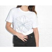 Screen print Cube design  Artist Collaboration x Victoria Gray / unisex organic white t shirt top  The Black Winnebago Club - Artist Gifts