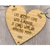 Life Doesnt Come With A Manual It Comes With An Amazing Mum Keyring Mother Lot - Keyring Gifts