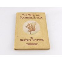 Early Copy of The Tale of Squirrel Nutkin  Antique Beatrix Potter Book  F. Warne  Co  Vintage Childrens Book  Peter Rabbit Series - Beatrix Potter Gifts