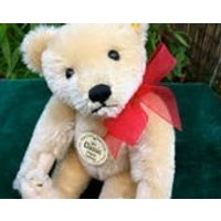 Classic 8inch 1951 Blonde Steiff Teddy Bear with Yellow Tag and Button in Ear - Teddy Gifts