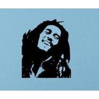 Bob Marley Legend Wall Sticker, Matt Vinyl, Contemporary Wall Art, Wall Decor, Murals, Decals, 550mm x 461mm - Bob Marley Gifts