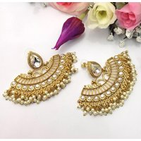 Handmade Party Wear Earrings Indian jewelry Pakistani Bollywood Bali Earrings indian jewellery - Handmade Gifts
