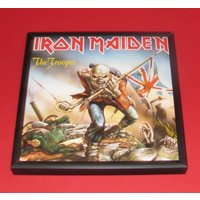 Iron maiden 7 inch framed music memorabilia artwork the trooper - Iron Maiden Gifts