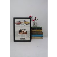 Vintage Chrysler Framed Advert, Old Fashioned Car Poster, Frame Wall Decor Garage Man Cave, Unique Sentimental Gift Him Grand Dad - Sentimental Gifts