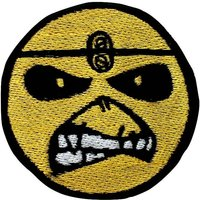 Iron Maiden Patch Eddie Smile Embroidered Rock Patches Iron On Badge Patches for jackets Embroidery Jeans Patch DIY free shipping - Iron Maiden Gifts