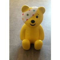 Children in Need Large Pudsey Bear Ceramic Money Box, - Money Gifts