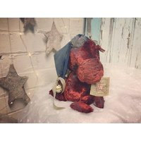 Kringle the ooak vintage Guddlegrump monster artist bear - Artist Gifts